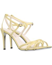 Balmain Highheeled Sandals - Yellow