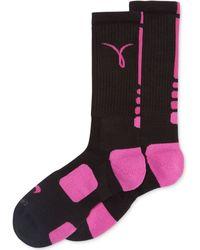 Nike Mens Kay Yow Elite Basketball Performance Crew Socks - Breast Cancer Awareness Month - Lyst
