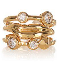 Diane von Furstenberg - Gold-plated Set Of Three Rings - Lyst