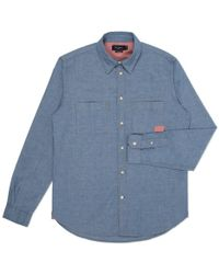 Paul Smith Classic-Fit Chambray Work Shirt - Lyst