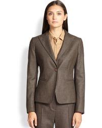 Max Mara Olinda Wool & Silk Blazer - Lyst