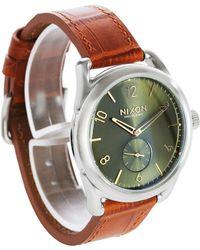 Nixon   Sand C39 Gator Leather Watch   Lyst
