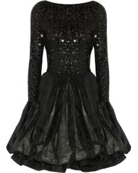 Alice + Olivia Tella Sequin-embellished Organza Dress - Lyst