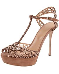 Sergio Rossi | Embellished Dress Sandal | Lyst