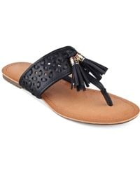 Tommy Hilfiger Women'S Laycie Thong Sandals - Lyst
