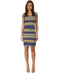 M Missoni Lurex V-Neck Dress - Lyst