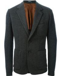 Dolce & Gabbana Knitted Sleeves Blazer - Lyst