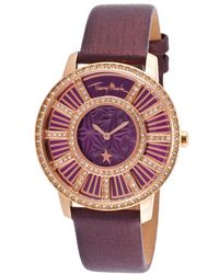 Thierry Mugler Women'S Genuine Genuine Leather Purple Dial - Lyst