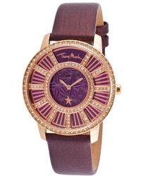 Thierry Mugler Women'S Genuine Genuine Leather Purple Dial purple - Lyst