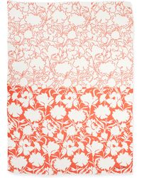 Oscar de la Renta Ethereal Floral-print Scarf - Lyst