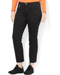 Lauren by Ralph Lauren Plus Size Stretch-twill Ankle Pants - Lyst
