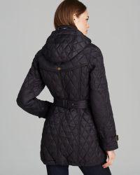 Burberry Finsbridge Long Quilted Coat - Black