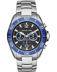 Michael Kors Windward Ceramic & Stainless Steel Chronograph Bracelet Watch blue - Lyst