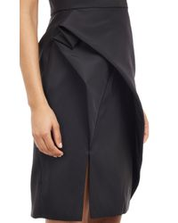 J. Mendel Faille Strapless Dress - Lyst