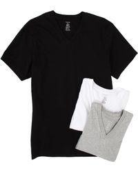 Calvin Klein Classic Ss Vneck 3pack - Lyst