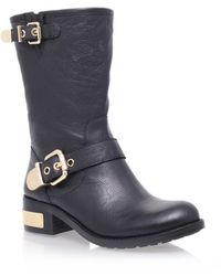 Vince Camuto Winchell Low Heel Calf Boots - Lyst