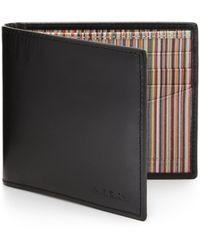 Paul Smith Striped Billfold Wallet - Lyst