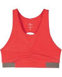 Alternative Apparel - Peekaboo Red Stretch Cotton Bra Top - Lyst