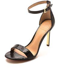 Tory Burch Keri Snake Sandals - Blackblack - Lyst