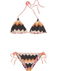 Missoni Reversible Crochetknit Triangle Bikini - Lyst