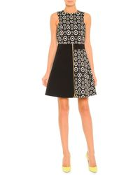 Fausto Puglisi Colorblock Circle-Print Zip Dress - Lyst