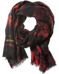 Banana Republic | Dyed Red Plaid Wool Scarf | Lyst