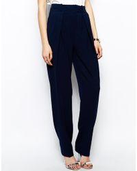 Three Floor Print Pants - Blue