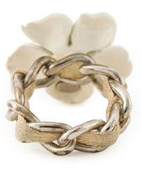 Chanel Flower Ring - Lyst