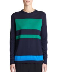 Proenza Schouler Colorblock Wool Sweater - Lyst