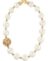 Jose & Maria Barrera Gold-Plated & Pearl Beaded Necklace - Lyst