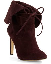 424 Fifth Tallis Suede Lace-up Booties - Brown