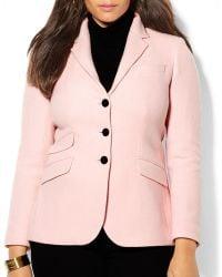 Ralph Lauren Lauren Plus Wool Blend Blazer - Lyst