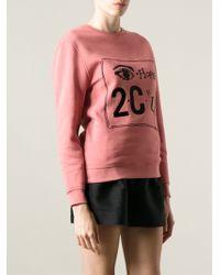 Carven - 'Hope 2 C U' Sweatshirt - Lyst