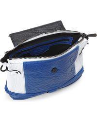 Fabiola Pedrazzini - Blue & White Mini Top Handle Handbag - Lyst