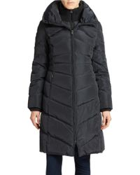 Jessica Simpson Quilted Maxi Coat - Lyst