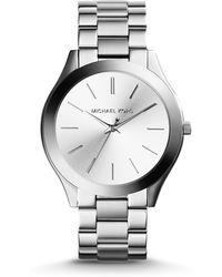 Michael Kors | Slim Runway Stainless Steel Bracelet Watch | Lyst