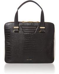 Pied A Terre Pisces Double Zip Bowler Handbag Bag - Lyst