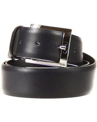 Alberto Guardiani Belt Tie Classic Buckle Leather - Blue