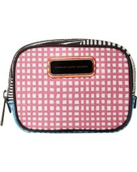 Marc By Marc Jacobs Sophisticato Optical Stripe Multi Small Box Cosmetic pink - Lyst