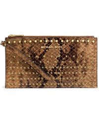 MICHAEL Michael Kors Large Jet Set Degrade Zip Clutch - Lyst