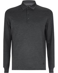Corneliani Long Sleeve Polo Shirt - Lyst