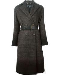 Ferragamo Double Breasted Coat - Lyst