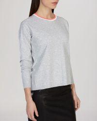 Karen Millen Sweater - Contrast Trim Crewneck - Lyst