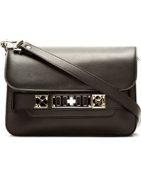 Proenza Schouler Black Leather Ps11 Classic Mini Shoulder Bag - Lyst