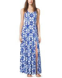 Michael Kors Tie-Dye Jersey Maxi Dress - Lyst