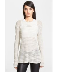 Helmut Lang Women'S 'Eroded Threads' Sweater - Lyst