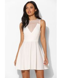 Sparkle & Fade - Dotted Mesh Fit + Flare Dress - Lyst