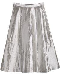 Cynthia Rowley Metallic A-line Skirt - Lyst