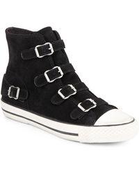Ash Virgin Buckle Suede Sneakers - Lyst