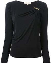 Michael Kors Draped Top - Lyst